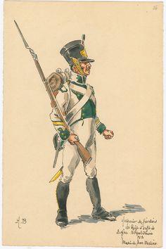 Regno di Napoli - Line Infantry, Fusilier Sous-Officier, 1813 Kingdom Of Naples, Kingdom Of Italy, Two Sicilies, Empire, National History, Naples Italy, Napoleonic Wars, Modern Warfare, American Civil War