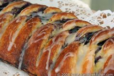 """Danish braid filled with home made vanilla custard and bilberries"" AND 'Other Delicious Danish Pastries"".plus has own dough recipe in this posting.A cat in the kitchen Brunch Recipes, Sweet Recipes, Brunch Foods, Danish Pastries, Vanilla Custard, Pastry Cake, Pastry Recipes, Eat Dessert First, Dough Recipe"