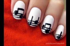 I love these music note nails!