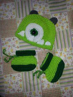 Monsters inc gorro a crochet