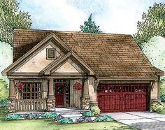 2 Bed Getaway with Options - 42340DB | Craftsman, Northwest, Narrow Lot, Photo Gallery, 1st Floor Master Suite, Butler Walk-in Pantry, CAD Available, PDF, Split Bedrooms, Sloping Lot | Architectural Designs