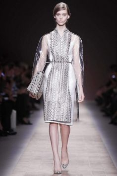 SS13 Trends: Snakeskin prints. Valentino @ Paris Womenswear S/S 2013. #snakeskin #springfashion