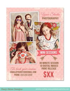 Mini Session Photography Marketing Template por hazyskiesdesigns