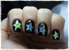 Rainbow Star - Nail Art de Estrelas