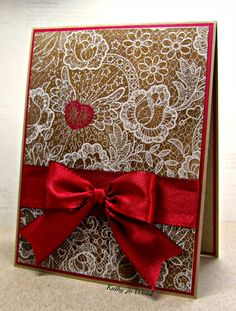 Lace and Kraft Valentine's Day Card