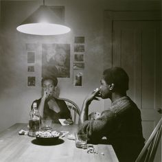 Untitled (Man Smoking - Malcolm X), from the Kitchen Table Series, 1990 by Carrie Mae Weems