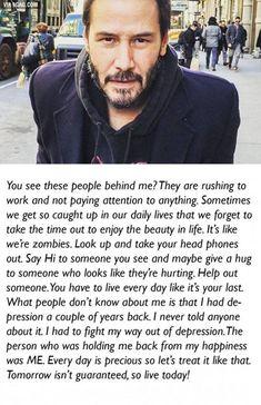 O conhecido ator Keanu Reeves escreveu uma mensagem na sua rede social, que está a dar que falar pelo mundo todo!