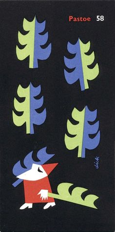 Designed by Dick Bruna for Pastoe, 1958 | Letterology: Joyful Holiday Greetings