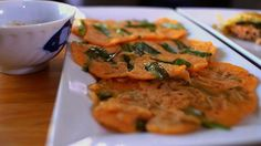 Korean Scallion Pancakes - TV journalist Virginia Cha of San Diego's 10 News shares a family favorite recipe -- Korean scallion pancakes. RECIPE: http://livewelln.co/16Z80SN