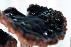 Купить Lactarius flexuosus. Гриб текстильный для интерьера. - комбинированный, розовый, сиреневый, бледно-розовый