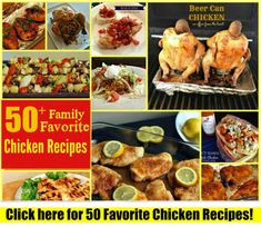 Family Favorite Chicken Recipes The perfect meal planning resource! Nearly 2 months of recipes here!: Family Favorite Chicken Recipes The perfect meal planning resource! Nearly 2 months of recipes here! Chicken Steak, Canned Chicken, Chicken Fajitas, Chicken Bacon, Lemon Chicken, Grilled Chicken, Greek Chicken, Dump Chicken, Mustard Chicken
