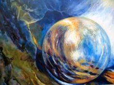 """""""G 7 Unser Weg"""", Acryl auf Lana, gerahmt auf 50 x 70 cm Corning Glass, Pictures"""
