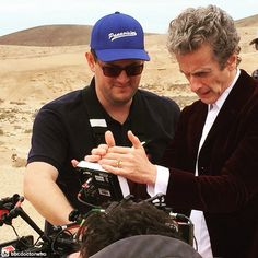 Is the Doctor telepathically bonding with another machine? Hope the TARDIS isn't the jealous type (40) #DoctorWho #DrWho #BTS #BehindTheScenes #whovian #fandom