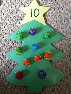 Cute for prek/k, give kids a star with a number and they have to put that number of pompoms on the tree.... Christmas Activities