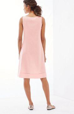 linen A-line sleeveless dress Modest Fashion, Plus Fashion, Womens Fashion, I Dress, Shirt Dress, Summer Outfits, Casual Outfits, Linen Dresses, Work Attire