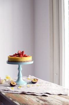 raw mango & passion fruit cake   tuulia tavio