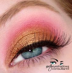MAC eyeshadows used: Amber Lights (on lid, below crease), Sushi Flower (crease), Vanilla (blend)