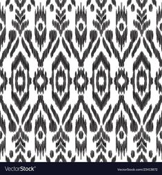 Seamless pattern for home decor ideas. Black and white graphic design. - Buy this stock vector and explore similar vectors at Adobe Stock Textile Pattern Design, Ikat Pattern, Textile Patterns, Pattern Art, Textiles, Tribal Background, Chevron Wallpaper, My Design, Graphic Design