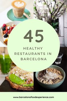 Looking for healthy restaurants in Barcelona, Spain? When you get tired of tapas there are a lot of tasty and healthy options to choose from! We have put together a list of 45 healthy restaurants! Barcelona Food, Barcelona Restaurants, Great Restaurants, Barcelona Spain, Barcelona Trip, Spice Cafe, Best Tapas, Brunch Places, Vegan Cafe