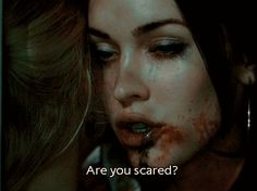 A scary scene from the 2009 thriller Jennifer's Body starring Megan Fox and Amanda Seyfried. Jennifer's Body, Horror Movie Quotes, Horror Movies, Scary Quotes, Movie Tv, Are You Scared, Just For You, Milady De Winter, Movie Quotes