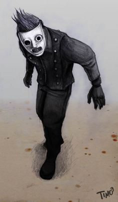 It's Corey Taylor (#8 of Slipknot)