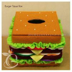 Kotak Tisu Kecil - Burger