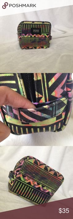 🔥1 HOUR ONLY🔥Pink Victoria's Secret Aztec bag Victoria's Secret Pink Aztec makeup bag. Has been used still in good condition. LIMITED EDITION print PINK Victoria's Secret Bags Cosmetic Bags & Cases