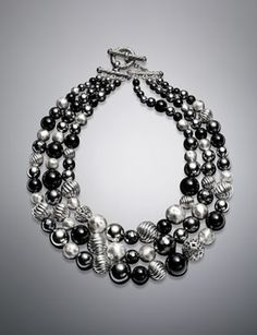 David Yurman  Black Onyx Necklace