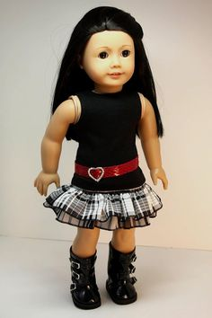 American Girl Doll ClothesRuffled Skirt Top and by sewurbandesigns, $24.00