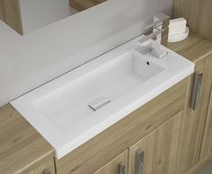 Odessa - Our Breeze sit-on basins are sleek and easy to install. Slimline bathroom furniture is great for creating space.