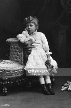 Princess Royal Mary (Victoria Alexandra Alice) Harewood (1897 - 1965), Countess of Harewood, only daughter of George V, seen here as a child.