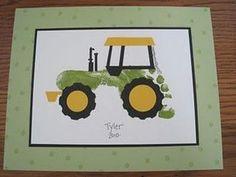 Voetafdruk traktor