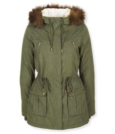 Sherpa Hooded Parka - Aeropostale Fully lined -even sleeves!