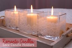 Romantic Lace Candle Holders