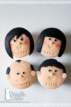 family faces cupcakes | Flickr - Photo Sharing!