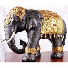 Large Thai-style Elephant Statue - Zen Home Decoration / Buddhism Inspired Elephant Figurine / Office Decoration Thai Elephant, Indian Elephant, Elephant Love, Elephant Art, Elephant Theme, Elefante Hindu, Thai Decor, Elephant Home Decor, Elephant Decorations