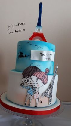 For the siblings that France loves with the Eiffel tower and Paris Hand modeled and cartoon . Thank you for your every view of my work ❤ Kaliss Paris Birthday Parties, Paris Party, Doodle Cake, Eiffel Tower Cake, Brithday Cake, Teen Cakes, Paris Cakes, Hand Painted Cakes, Cupcake Cookies