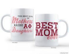 Alpha Phi Best Mom Sorority Mug by BoutiqueGreek on Etsy
