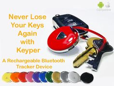 A rechargeable Bluetooth tracker with a long-lasting battery that keeps you from losing your valuables with help of a smartphone app.