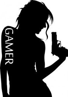 "Gamer Girl Professional Vinyl Wall Art Decal Die-Cut 24"""