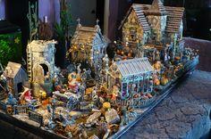 Halloween Village Display / maquette, le manoir des SORCIÈRES...