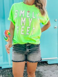 Smell My Feet Tee: Neon Green Trendy Girl, Boutiques, Neon Green, Best Sellers, Cool Style, Graphic Tees, Autumn Fashion, Community, Hoodies