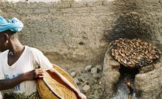 """Malian's Kitchen"" Fish from the Nile River is being cooked for lunch."