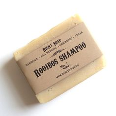 Rooibos Soap Shampoo - Shampoo bar, Herbal Soap, Vegan Soap, Shampoo Soap, Natural Soap, Handmade Soap, Fragrance Free, Cold Process Soap. $6.00, via Etsy.