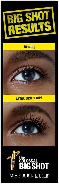 08ab08e4023 Gorgeous, bold, voluminous lashes in one swipe! Get your bossiest lashes  ever using. Maybelline Big Shot MascaraMaybelline ...