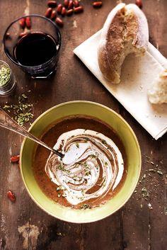 Sopa picante de feijão vermelho # Spicy red bean soup