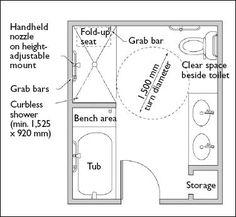 Accessible Bathroom Plans ADA Bathroom Floor Plans Shower - Handicap bathroom layout