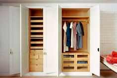 From walk-in wardrobes to space savers, the best ideas for clothes storage