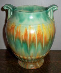 1930's Arts Crafts Art Deco Crown Devon England Art Pottery Vase | eBay