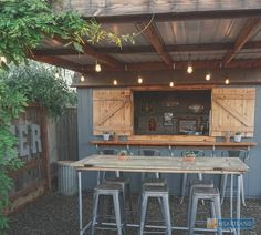 Looking for a nice and friendly pub only a few steps away? Why not build a bar shed in your backyard. Pool Bar, Patio Bar, Outdoor Garden Bar, Garden Bar Shed, Pool Shed, Diy Outdoor Bar, Backyard Bar, Outdoor Sheds, Outdoor Decor
